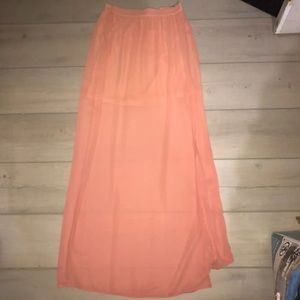 NWT foreign exchange maxi skirt
